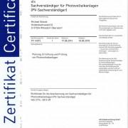 Anerkennung als Sacherverständiger für Photovoltaikanlagen